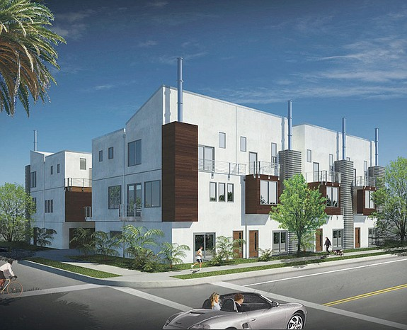 Condominium units available at Bachman Flats in Hillcrest offer 1,545 square feet of space in a tri-level configuration. The neighborhood enjoys close proximity to Balboa Park, downtown San Diego and Mission Valley.