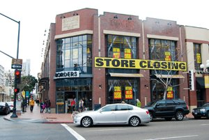 Despite the pending national closings of 200 Borders bookstores, including this 33,000-square-foot store in downtown San Diego's Gaslamp Quarter, experts say San Diego County's retail market fundamentals should stay strong in 2011.