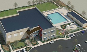 Montgomery Middle School students will have access to the Border View Family YMCA's gym, swimming pool and soccer arena once the facility is completed.