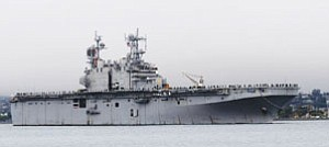 For the time being, the Navy has called off a repair stop for the 30-year-old amphibious assault ship USS Peleliu.