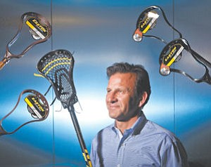 At the ready: Chris Zimmerman, president of Van Nuys-based Easton Sports.