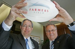 From left, Paul Patsis and Bob Woudstra at Farmers' L.A. office.