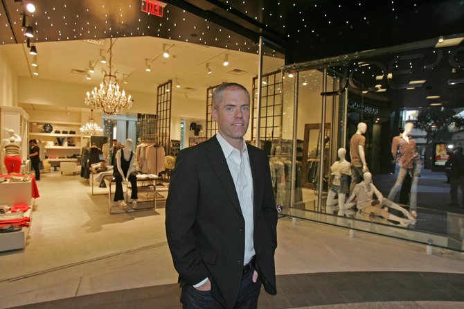 Marc Crossman, CEO of Joe's Jeans, at company's Santa Monica Place store.