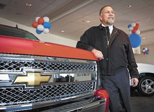 Cars: Lou Gonzales has seen momentum pick up for the Chevrolet brand as the carmaker brings out smaller models to compete with those from Honda and Toyota.