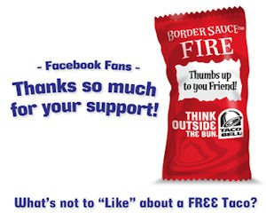 Taco Bell ad: company gave away tacos on Facebook