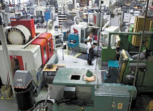 Setup: So-called cellular manufacturing involves the grouping of machines to improve workflow.