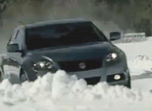 Kizashi spot: sedan held off angry snowmen, ran in cold-weather markets