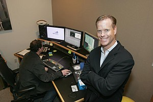 CEO Michael Arrieta at Big Air's headquarters in Santa Monica.