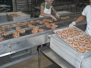 S & S Bakery supplies bread for aircraft carriers, and doughnuts, cakes, pies and brownies to stores, restaurants and schools.