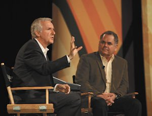 Venture: Director James Cameron, left, and camera inventor Vince Pace will operate out of Burbank.