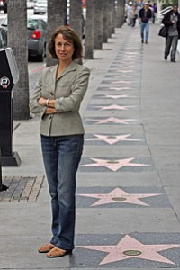 Amy Lemisch of the California Film Commission outside her Hollywood office.
