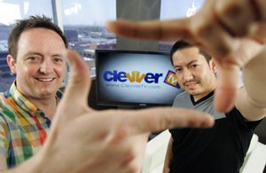 From left, Clevver's Michael Palmer and Jorge Maldonado.