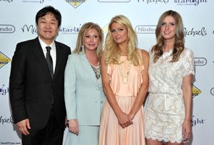 Wealthiest Angelenos: Jin Sook Chang with Hiltons at charity event