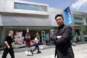 Chris Lee, Kitson's new CEO, at the chain's flagship store on Robertson Boulevard.