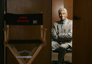 Movie producer Ashok Amritraj at his office in Sherman Oaks.