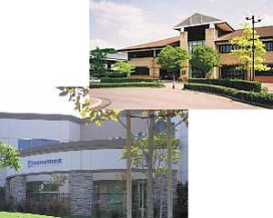Facilities: Providea's Camarillo headquarters, left, and its new site in Buckinghamshire, England, near London.