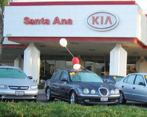 Kia dealer in Santa Ana: brand's April sales up 70% here
