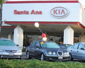 Kia dealer in Santa Ana: brand's April sales up 70% here