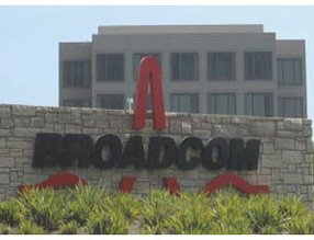 "Broadcom in Irvine: saw ""triple-digit"" gains in 2010 processor chip shipments, according to report"