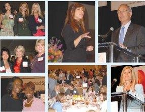 Honorees, with hosts: Hudash (left); Business Journal's Laura Garrett; Taylor; Jackson; Bain; Le; Business Journal's Richard Reisman