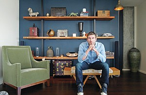 Dan Vandenbark, owner of Hollywood-based Dezine, at the furniture company's showroom in downtown Los Angeles.