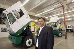 Balqon's Balwinder Samra at the company's Harbor City facility.