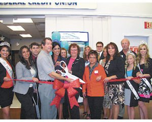 Opening: Ribbon cutting at new branch of All Valley Federal Credit Union.