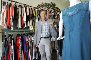 President Steve Lee at clothing wholesaler Esley in downtown Los Angeles.