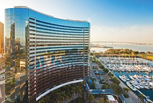 Recently completed renovations at downtown's San Diego Marriott Marquis & Marina, among $200 million in long-term improvements, include refurbished lobby and pool areas.