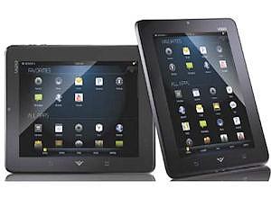 Vizio tablet: about $350