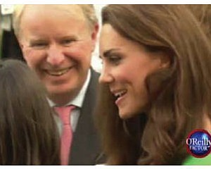 "Pyott with Kate Middleton, as captured on Fox's ""O'Reilly Factor"""