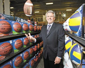 "Touchdown: Craig Levra played high school football but admits to being ""too short and too slow."" His first experience in retail was as a college student in Kansas."