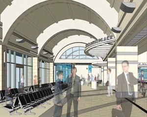 Drawing board: rendering of new terminal from San Francisco-based architect Gensler