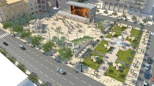 Officials this fall will review the latest design concept, known as 'Cabrillo Arch,' for a planned new public square at Horton Plaza.