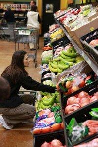 Customer at Fresh & Easy in Van Nuys.