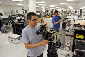 Employees at Panavision's current headquarters at Warner Center.