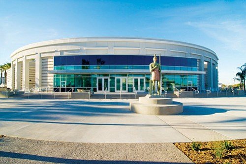 Chula Vista High School's performing arts center and library bring support to the high school's burgeoning performing arts and academic programs.