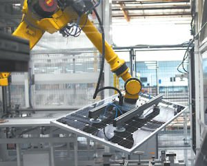 Panels: Automated equipment at Oregon plant