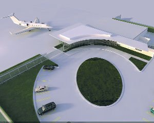 Planes: The NetJets terminal will have upscale amenities for passengers and crew.