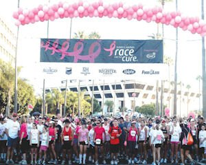 Long haul: Pacific Life Insurance Co. hosted inaugural Race for the Cure in 1992, added anniversary gift this year