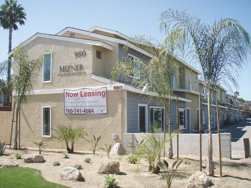 Interior and exterior renovations are under way at Mizner Townhome Apartments to help bring the apartment complex up to par with some of the newer developments in the East Mission Avenue neighborhood of Escondido.
