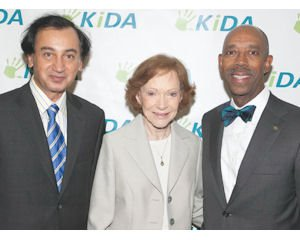 Dr. Fariborz Maseeh, founder of Newport Beach-based Picoco LLC and KiDA; former First Lady and keynote speaker Rosalynn Carter; Dr. Michael Drake, chancellor of University of California, Irvine