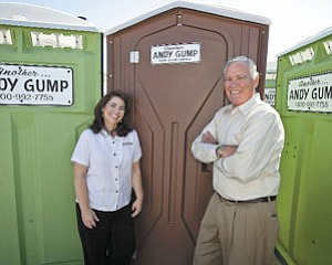 Transition: Barry Gump (right) is preparing to retire as head of Andy Gump Inc. and turn the reins over to daughter, Nancy. Barry's father started the firm in the 1940s.