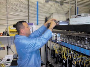 Technology: Darin Sioussat is a calibration technician at H2Scan in Valencia.