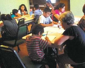 Literacy: Santa Clarita city officials visited the Granada Villa Mobile Hope Park.
