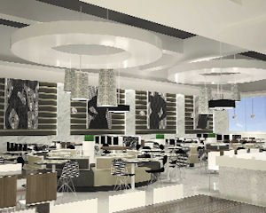 Dining: Rendering of the new food court proposed for Westfield Fashion Square.