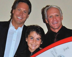 Miracle for Kids attendees: Jeff Alter, president of Hobie Designs Inc.; volunteer Noah Wehner, Tom Swanecamp; board member