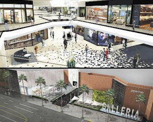 Mall: Improvements to the Galleria include new signage and refurbished entrances.