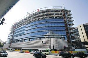 Cedars-Sinai Medical Center office building now under construction on San Vicente Boulevard.