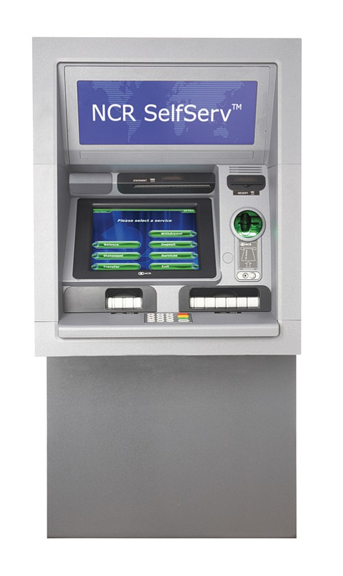 The new generation of ATMs includes this model from NCR Corp.